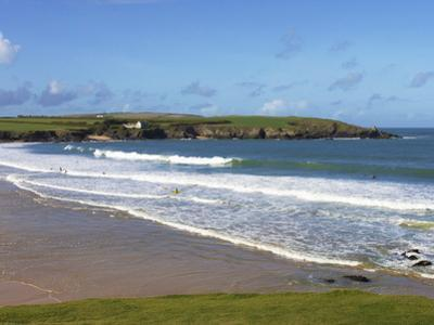 Surfers, Harlyn Bay, Cornwall, England, United Kingdom, Europe