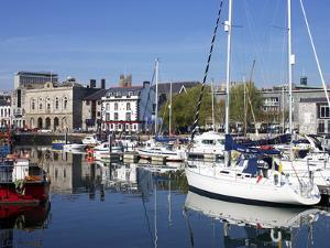 Yachts, the Barbican, Plymouth, Devon, England, United Kingdom, Europe by Jeremy Lightfoot