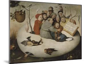 Le concert dans l'oeuf (Satire de l'alchimie symbolis�par l'oeuf philosophique) by Jérôme Bosch
