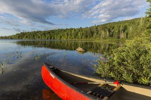 A Canoe on the Shore of Bald Mountain Pond. Bald Mountain Township, Maine by Jerry and Marcy Monkman