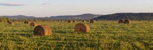 Hay Bales , the International Appalachian Trail. Merrill, Near Smyrna Mills by Jerry and Marcy Monkman