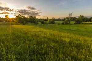 Last Light in a Hay Field in Epping, New Hampshire by Jerry and Marcy Monkman