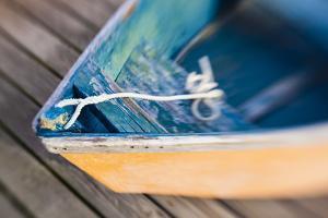 Skiff on the Dock in Wellfleet Harbor in Wellfleet, Massachusetts. Cape Cod by Jerry and Marcy Monkman