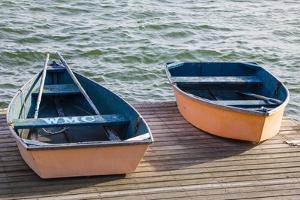Skiffs on the Dock in Wellfleet Harbor in Wellfleet, Massachusetts. Cape Cod by Jerry and Marcy Monkman