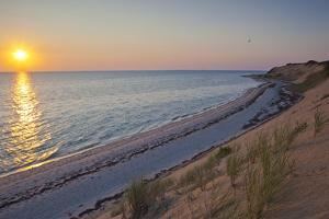 Sunset over Duck Harbor Beach in Wellfleet, Massachusetts. Cape Cod by Jerry and Marcy Monkman