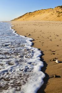 Surf Washing Up on Marconi Beach in the Cape Cod National Seashore. Wellfleet, Massachusetts by Jerry and Marcy Monkman