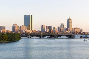 View of the Charles River and the Skyline of the Back Bay, Boston, Massachusetts by Jerry and Marcy Monkman