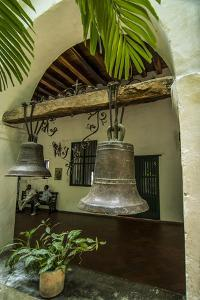 Bells of historic Santuario and Iglesia de San Pedro Claver, Cartagena, Colombia. by Jerry Ginsberg