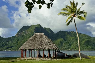 Faleo'o on the shore, Pago Pago, Tutuila Island, American Samoa.