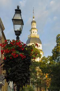 Historic Maryland State House in Annapolis, Maryland by Jerry Ginsberg