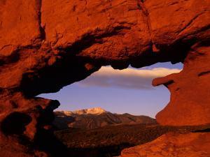 Legendary Pike's Peak, Garden of the Gods, Colorado Springs, Colorado by Jerry Ginsberg