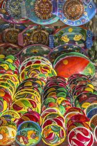 Local wares for sale at historic Mayan Chichen Itza, Mexico. by Jerry Ginsberg