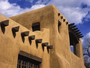 New Mexico Adobe Architecture, Santa Fe, New Mexico, USA by Jerry Ginsberg