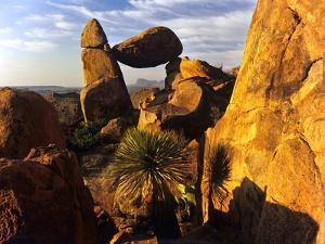 Rock Formations in Grapevine Hills, Big Bend National Park, Texas, USA by Jerry Ginsberg