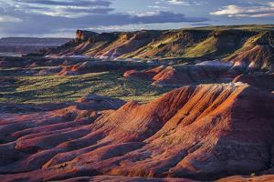 The Fiery Red Painted Desert from Lacey Point in Petrified Forest National Park, Arizona by Jerry Ginsberg