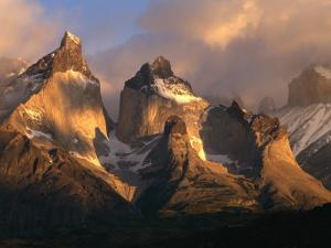 The Horns at Sunrise, Torres del Paine National Park, Patagonia, Chile by Jerry Ginsberg