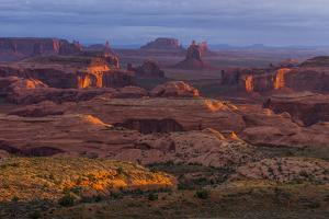 View from Atop Hunt's Mesa in Monument Valley Tribal Park of the Navajo Nation, Arizona and Utah by Jerry Ginsberg