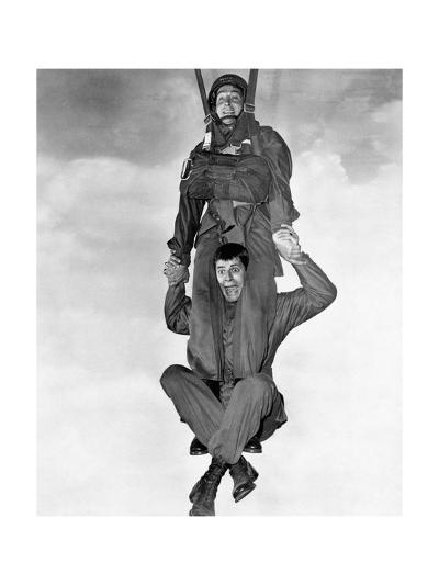 Jerry Lewis and Dean Martin in Jumping Jacks--Photographic Print