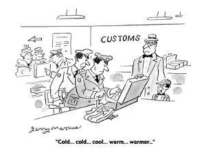 """""""Cold . . . cold . . . cool . . . warm . . . warmer . . ."""" - Cartoon by Jerry Marcus"""