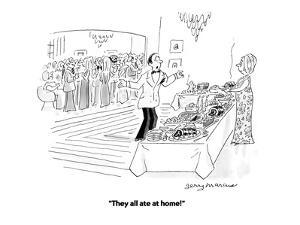 """""""They all ate at home!"""" - Cartoon by Jerry Marcus"""