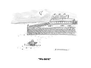 """""""We did it!"""" - Cartoon by Jerry Marcus"""