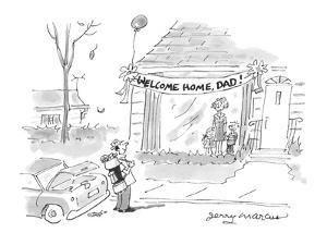 Welcome Home, Dad! - Cartoon by Jerry Marcus