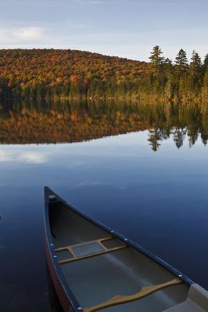 A Canoe on the Shore of Pond of Safety, Randolph Forest. New Hampshire