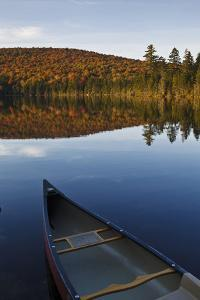 A Canoe on the Shore of Pond of Safety, Randolph Forest. New Hampshire by Jerry & Marcy Monkman