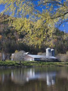 A farm on the Connecticut River in Maidstone, Vermont, USA by Jerry & Marcy Monkman
