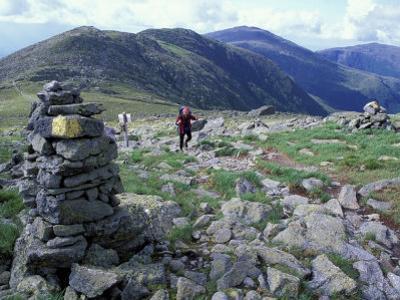 Backpacking on Gulfside Trail, Appalachian Trail, Mt. Washington, New Hampshire, USA