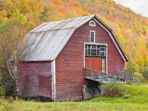 Barn in Vermont's Green Mountains, Hancock, Vermont, USA by Jerry & Marcy Monkman
