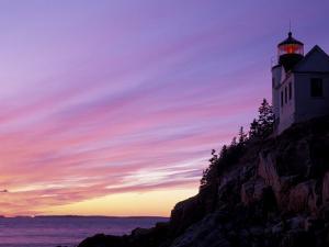 Bass Harbor Head Light at Sunset, Mt. Desert Island, Acadia National Park, Maine, USA by Jerry & Marcy Monkman