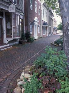 Brick Sidewalks in the Historic District of Chestertown, Maryland, USA by Jerry & Marcy Monkman