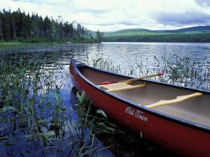 Canoeing on Lake Tarleton, White Mountain National Forest, New Hampshire, USA by Jerry & Marcy Monkman