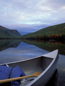 Canoeing on Lower South Branch Pond, Northern Forest of Maine, USA by Jerry & Marcy Monkman