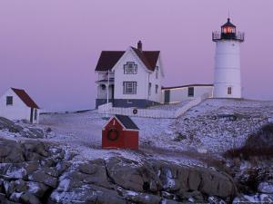 Cape Neddick Lighthouse, The Nubble, Maine, USA by Jerry & Marcy Monkman
