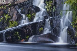 Cold Stream Falls in Northern Forest. Johnson Mountain Township, Maine by Jerry & Marcy Monkman
