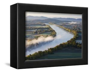Connecticut River at Dawn As Seen From South Sugarloaf Mountain, Deerfield, Massachusetts, USA by Jerry & Marcy Monkman