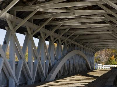 Covered Bridge over the Upper Ammonoosuc River, Groveton, New Hampshire, USA