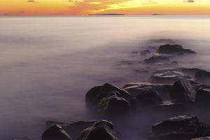 Dawn at Wallis Sands State Park in Rye, New Hampshire by Jerry & Marcy Monkman