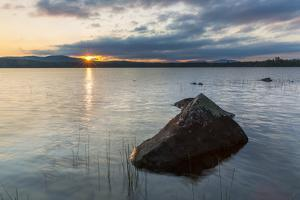 Dawn on Lake Umbagog in Errol, New Hampshire. by Jerry & Marcy Monkman