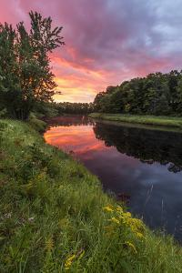 Dawn on the Mattawamkeag River flowing through Wytipitlock, Maine. by Jerry & Marcy Monkman