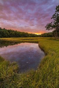 Dawn on the salt marsh along the Castle Neck River in Ipswich, Massachusetts. by Jerry & Marcy Monkman