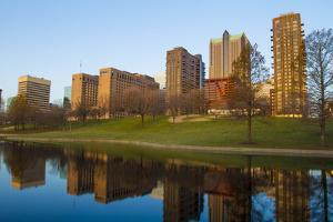 Downtown St. Louis, Missouri, as Seen from the Reflecting Pool by Jerry & Marcy Monkman