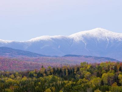 Dusk and Mount Washington, White Mountains, Bethlehem, New Hampshire, USA