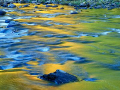 Fall Colors Reflect in the West River, Jamaica State Park, Vermont, USA
