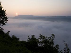 Fog on the Connecticut River, Sugarloaf Mountain State Reservation, Deerfield, Massachusetts, USA by Jerry & Marcy Monkman
