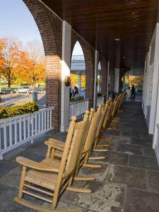 Front Porch of the Hanover Inn, Dartmouth College Green, Hanover, New Hampshire, USA by Jerry & Marcy Monkman