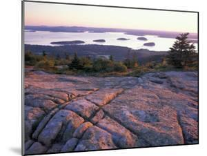Grooves in the Granite on Summit of Cadillac Mountain, Acadia National Park, Maine, USA by Jerry & Marcy Monkman