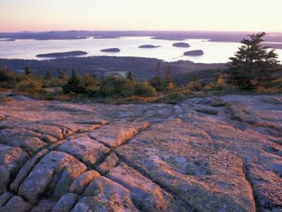 Grooves in the Granite on Summit of Cadillac Mountain, Acadia National Park, Maine, USA